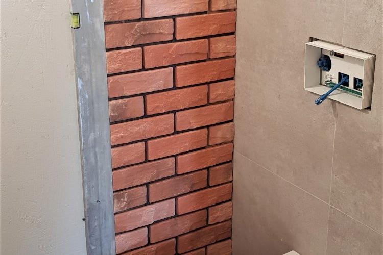 łazienka w trakcie realizacji